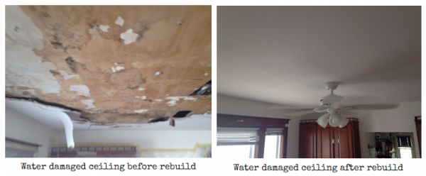 Water Damage Restoration before and after Schenectady NY