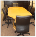RACETRACK MAPLE WOOD CONFERENCE TABLE
