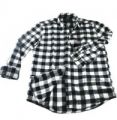 Black Checked Flannel Shirts