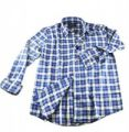 Blue & White Checked Flannel Shirt