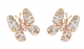 18K Rose Gold with Diamonds Earrings