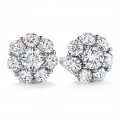 Rhodium Plated Diamond Color Stud Earrings made with Swarovski Crystals (GE040CR)