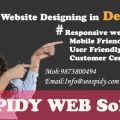 Seospidy Web Solution offer mobile friendly website design services in Delhi NCR
