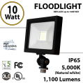 10W LED Floodlight 1100Lm 5000K IP65 UL DLC