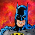 Orthodontic Themed Art | Batman Braces
