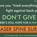 Benefits of lowest cost laser spine surgery in India