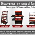 CNC Tool carts with Lockable drawers and Peg board.