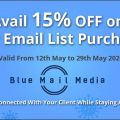 Blue Mail Media Offers 15% Off on Purchase of Marketing Database