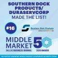 Dallas Business Journal awarded the top 50 fastest-growing middle-market companies in North Texas.