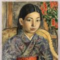 Oil Painting of a Japanese Girl by David Burliuk (1882-1967) Sells for $39,100 at Weiss Auctions