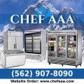 Chef AAA - Commercial Refrigerator, Freezer & Kitchen Equipment Supplier